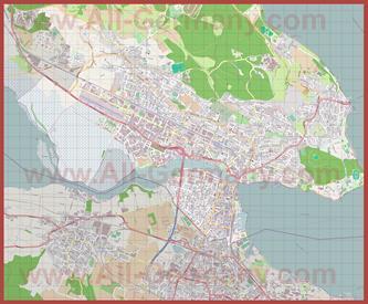 Подробная карта города Констанц