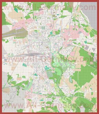 Подробная карта города Котбус
