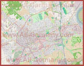 Подробная карта города Крефельд