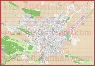 Подробная карта города Кведлинбург
