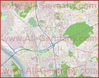 Подробная карта города Леверкузен
