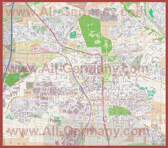 Подробная карта города Людвигсбург