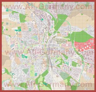 Подробная карта города Люнебург