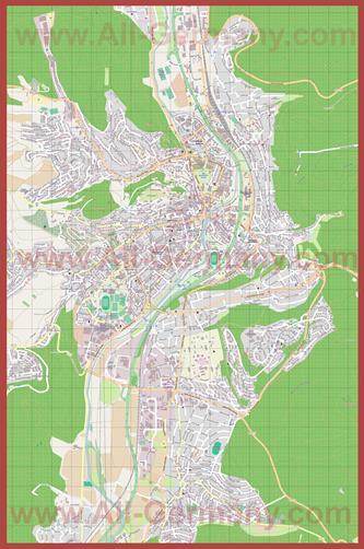 Подробная карта города Марбург