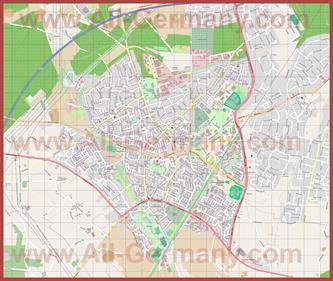 Подробная карта города Марль