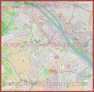 Подробная карта города Майнц
