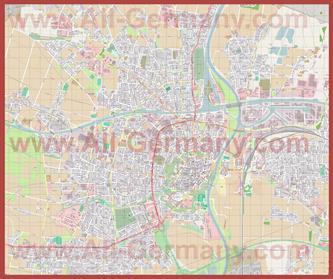 Подробная карта города Минден