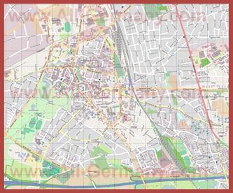 Подробная карта города Мёрс