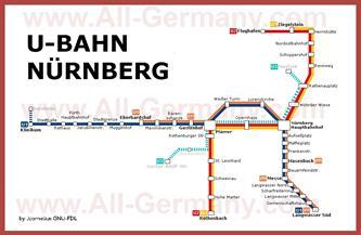 Карта метро Нюрнберга