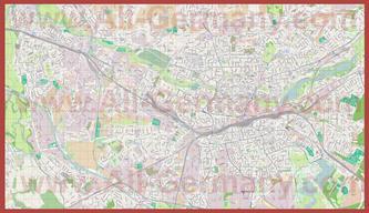 Подробная карта города Нюрнберг