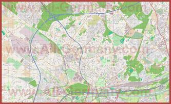 Подробная карта города Оберхаузен