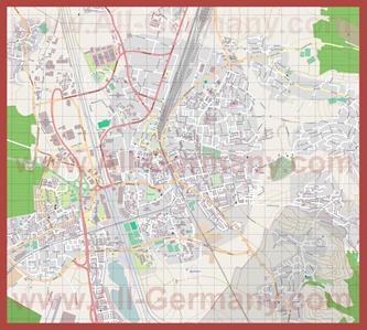 Подробная карта города Оффенбург