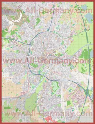 Подробная карта города Ольденбург
