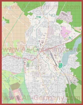 Подробная карта города Ораниенбург