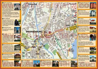Туристическая карта Ораниенбурга с достопримечательностями