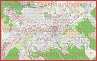 Подробная карта города Пфорцхайм