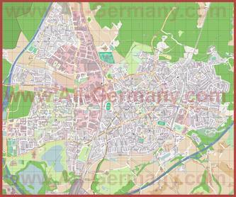 Подробная карта города Ратинген