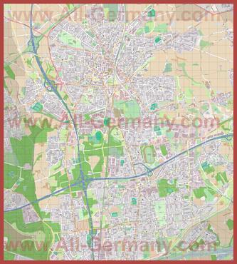 Подробная карта города Реклингхаузен