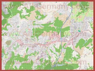 Подробная карта города Ремшайд