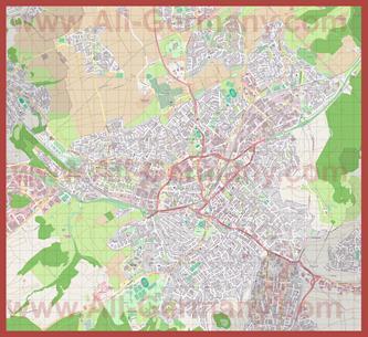 Подробная карта города Ройтлинген