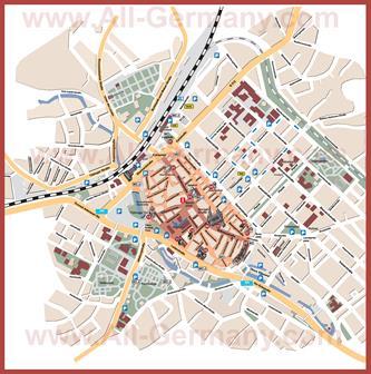 Туристическая карта Ройтлингена с достопримечательностями