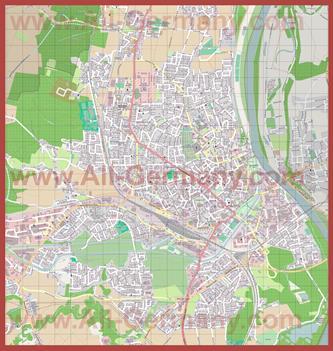 Подробная карта города Розенхайм