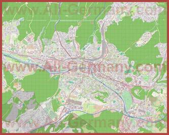 Подробная карта города Саарбрюккен