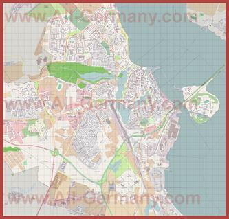 Подробная карта города Штральзунд