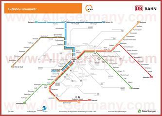 Карта метро Штуттгарта
