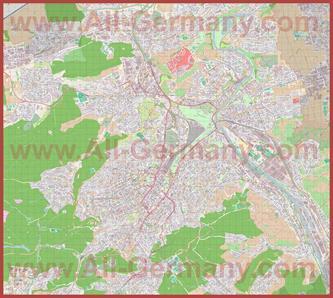 Подробная карта города Штуттгарт