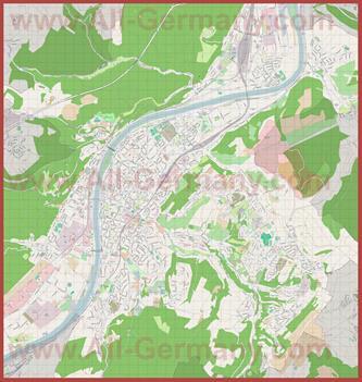 Подробная карта города Трир
