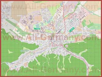 Подробная карта города Вернигероде