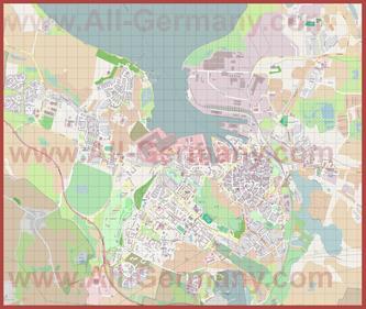 Подробная карта города Висмар