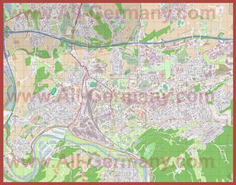 Подробная карта города Виттен