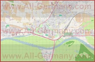 Подробная карта города Виттенберг