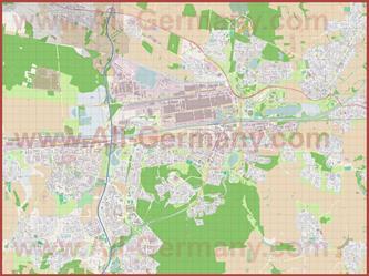 Подробная карта города Вольфсбург