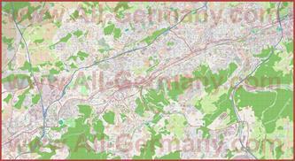 Подробная карта города Вупперталь