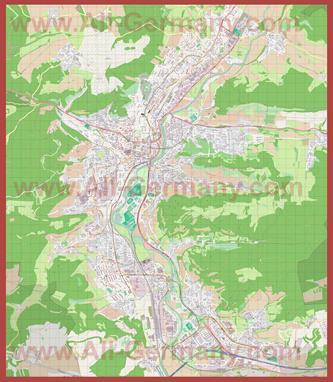 Подробная карта города Йена