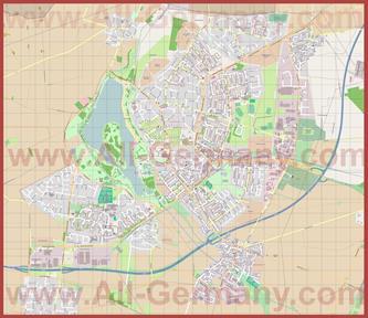 Подробная карта города Зальцгиттер