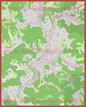 Подробная карта города Зиген