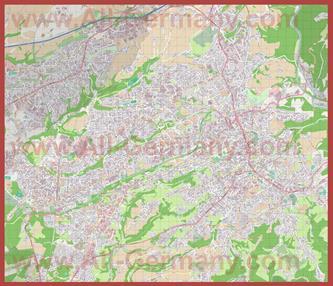 Подробная карта города Золинген